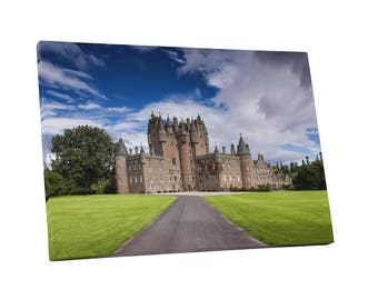 Castles and Cathedrals Glamis Castle in Scotland Gallery Wrapped Canvas Print