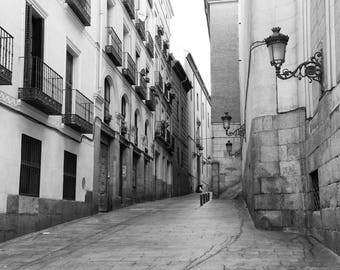 Spain Travel Print, Madrid Spain, Architecture, Black and White Photography, Fine Art Print, Europe Wall Art, Travel Decor