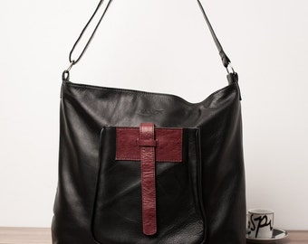Leather shopping bag - The DELORME