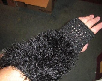 Fun Fur Fingerless Gloves