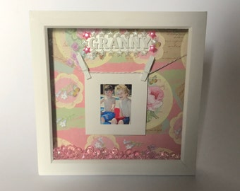 Mother's Day photo frame / box frame / granny gift