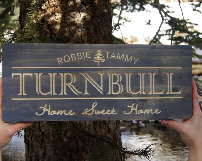 Couples Name Sign, Wedding Date Sign, Custom Name Sign, Large Wood Sign, Engagement Gift, Wedding Gift, Housewarming Gift