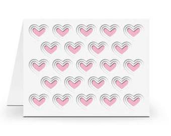 Layered Hearts PaperCut Card , Blank inside , Free Confetti , love , Men , Women , Teens , Kids , All Occasion , friendship