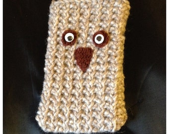 Owl Knitted Phone Sock