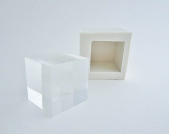 silicone mold 3 cm cube voor resin concrete castings