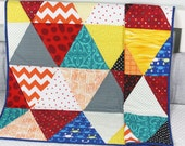 Baby Quilt,  Handmade Baby Quilt, Modern Baby Quilt, Baby Gift, Newborn Gift, Holiday Baby Gift, Baby Shower Gift, Geometric Design