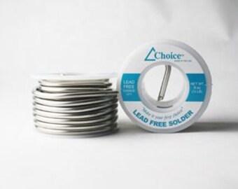Choice Lead Free Solder-1/2 lb-1lb-Lead Free Solder-Solder Supplies-60/40 SolderSolder-Jewelry Solder