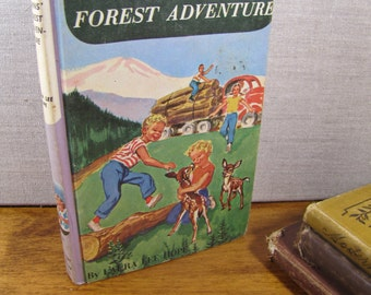 Vintage Book - The Bobbsey Twins - Forest Adventure - Laura Lee Hope - 1957