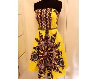 Dashiki Bustier Dress