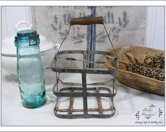 Antique french bottle holder