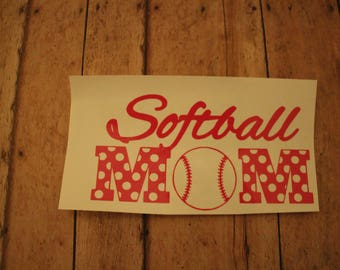 Softball Mom Decal; Sports Mom; Soccer Mom Car Decals