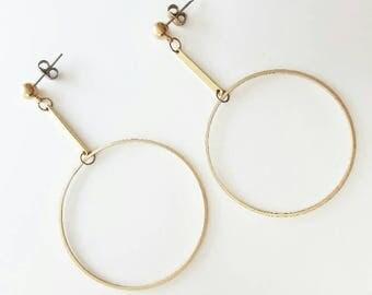 Mari Earrings | Brass