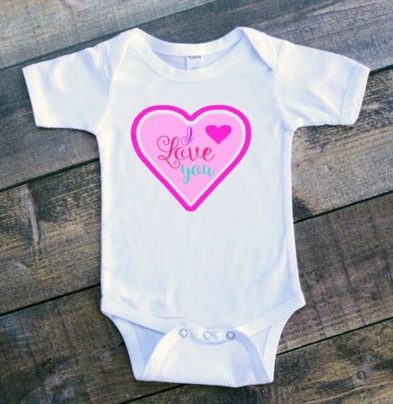 I Love You Baby Clothes, Baby Girl Clothing, Baby Shower Gift, New Mommy Gift, Homecoming outfit, 1/2 birthday, Baby Girl Christmas Gift