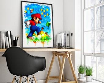 Super Mario Bros art print. poster or canvas