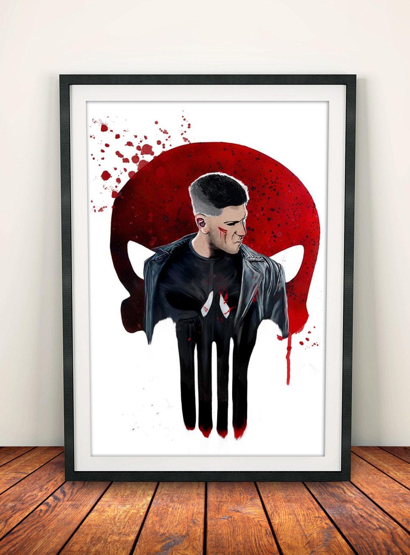 Punisher Frank Castle Art Print Poster