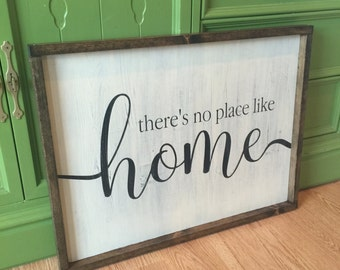 Ready To Ship No Place Like Home Framed Sign