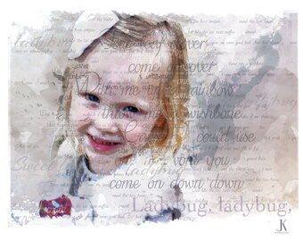 Custom Typography Child portrait