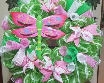 Dragonfly wreath