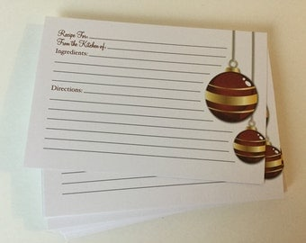 Recipe Cards, 4x6, Holiday Themed, Closeout Price