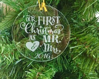 Our 1st Christmas Clear Glass Ornament