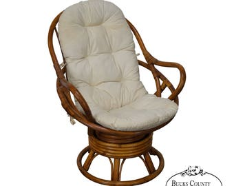 Delightful Quality Rattan Swivel Lounge Chair