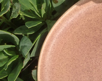 Midcentury Speckled Brown / Cocoa - Cerama-Stone by Laurel of California - Dinner Plate
