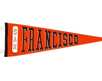 Classic San Francisco Pennant - Orange and Black
