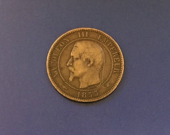 1853 French Empire 10 Centimes