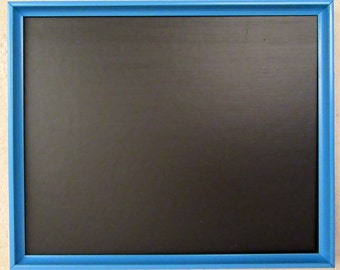 Large Sky Blue Framed Chalkboard / Blackboard / Memo / Noticeboard / Kitchen / Wedding Board