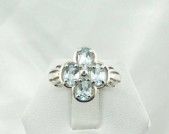 Vintage Blue Topaz Sterling Silver Ring Size 8 3/4 #TOPAZ-SR4