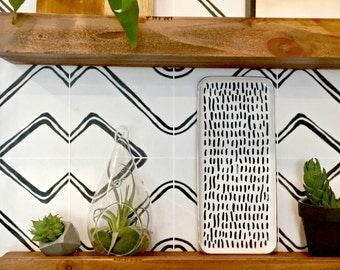 Tile Decals - Tiles for Kitchen/Bathroom Back splash - Floor decals - Harlow Vinyl Tile Sticker Pack color Cream & Black
