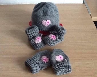 Beanie Baby mittens and booties