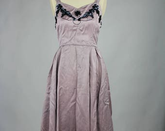 1940s Purple Lilac Dress with beaded  detail
