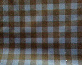 Blue and black plaid PUL fabric