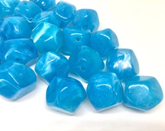 Blue Beads, Caribbean , Acrylic Beads, The Jet-Setter Collection, 22mm beads, Colorful beads, Multi-Color Beads, Gemstones, Chunky Beads