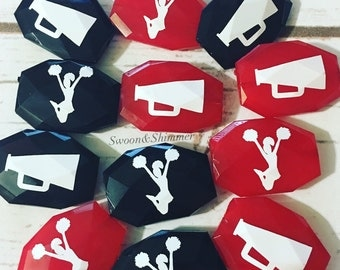 CHEERLEADER beads, Choose your bead color, school colors beads, bangle beads, wire bangle, cheerleader mom, cheerleader jewelry
