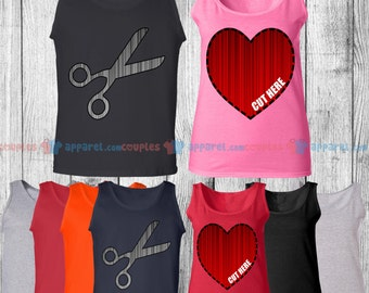 Cut My Heart Out - Matching Couple Tank Top - His and Her Tank Tops - Love Tank Tops