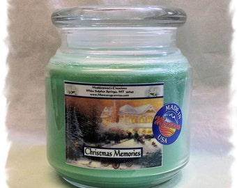 Christmas Memories Paraffin Container Candle