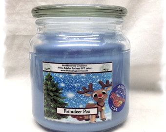 Reindeer Poo Paraffin Container Candle