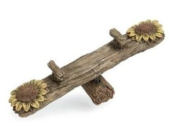 Fairy Garden  - Flower Teetertotter - Miniature