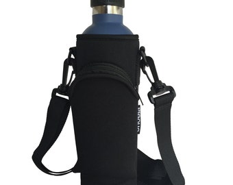 24oz Pocket Carrier for Hydro Flask Type Bottles with Adjustable Straps (Neoprene Sleeve/pouch)