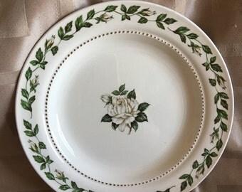Superior Hall Quality Dinnerware - Vintage Dessert Cameo Rose