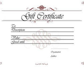 Mothers Day Gift Certificate / Jewelry Gift Certificate / 80 Dollars for a 100 Dollar Value
