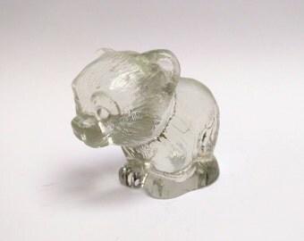 Vintage glass Goebel bear figurine