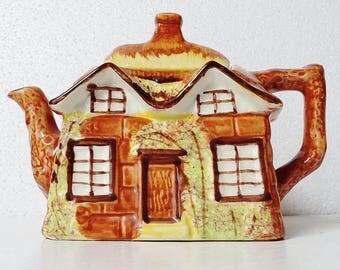 Vintage Cottage Teapot Price Kensington Traditional Decorative Cottage Chic Hand Painted Collectible Tea Pot