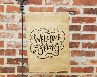 Welcome Spring Garden Flag