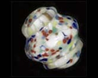 Handmade wound glass bead contemporary Czech. 15x13mm. Sold individually. b11-mi-0127(e)