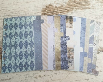 """Set of 12 Personal dividers """"blue"""""""
