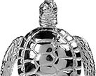 Sterling Silver Tortoise Turtle Pendant Necklace