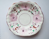 RESERVED FOR M.Radley. Victorian Pink Lustreware Large Cake Plate Or Sandwich Plate. Hand Painted Cake Plate or Serving Platter.